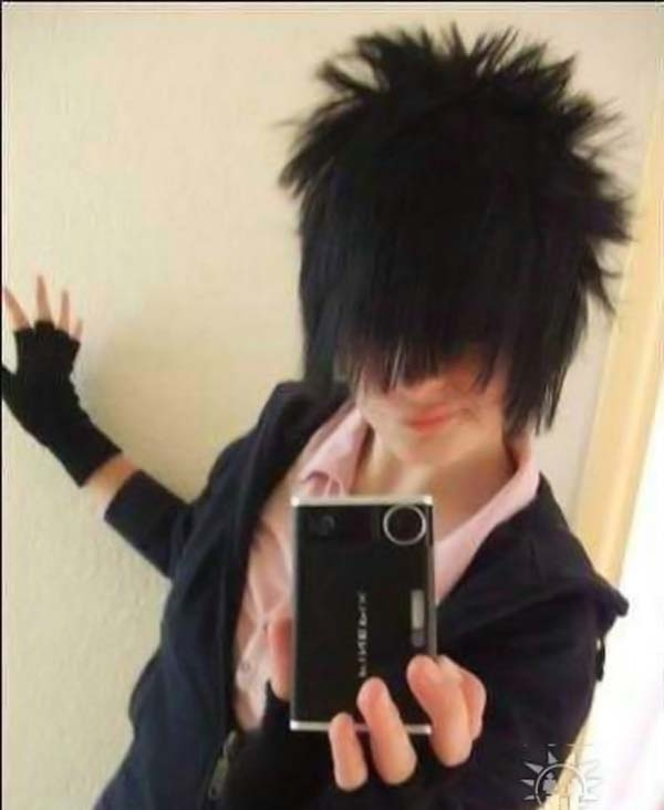 Emo hair style gone too far