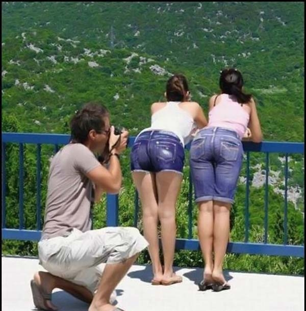 Taking picture of ladies butts