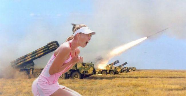 Military firing rockets