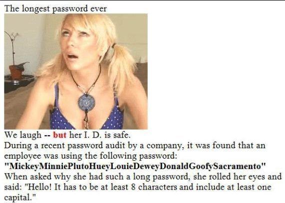 Longest Password
