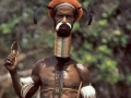 Long neck of one of the tribes man