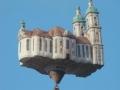 Balloon in the shape of castle