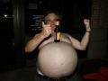 Balancing Beer on belly