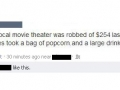 Robbing movie theater