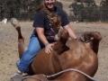 Woman Ridding a horse