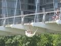 Swinging in the hamack from the bridge